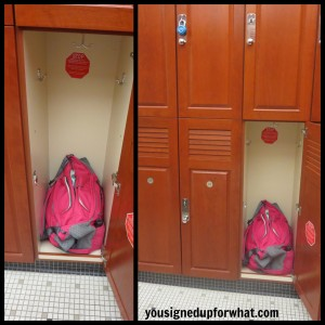 Apera bag in locker