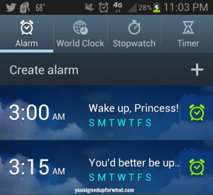 Disney Princess Alarm