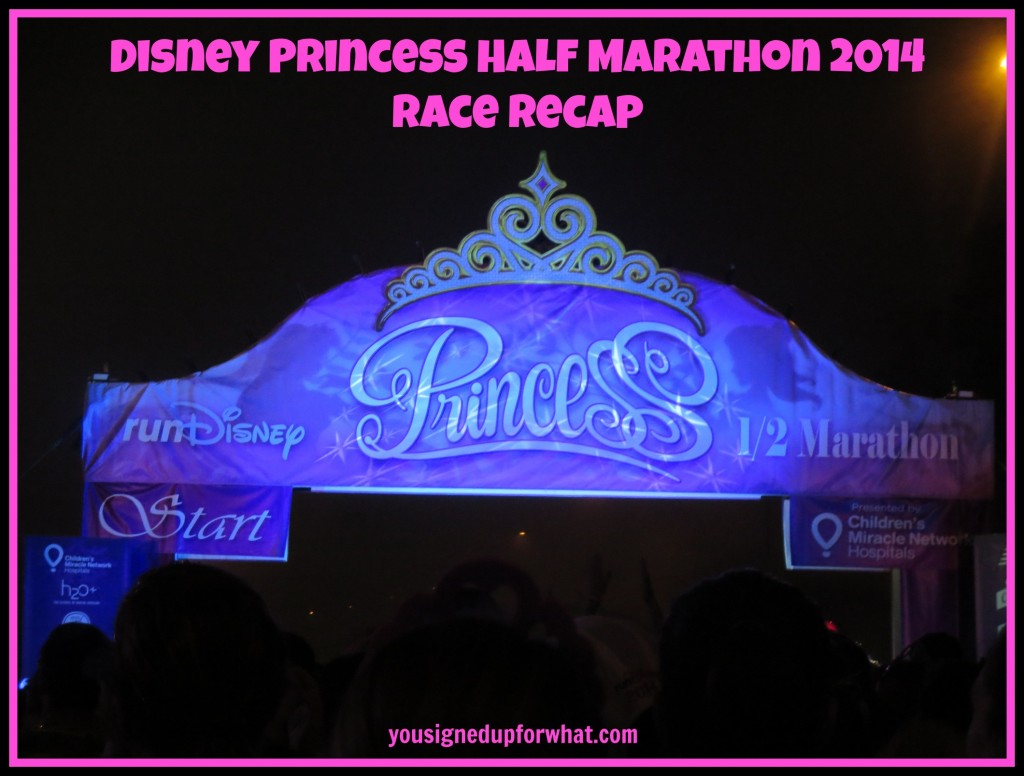 Disney Princess Half Marathon Race Recap