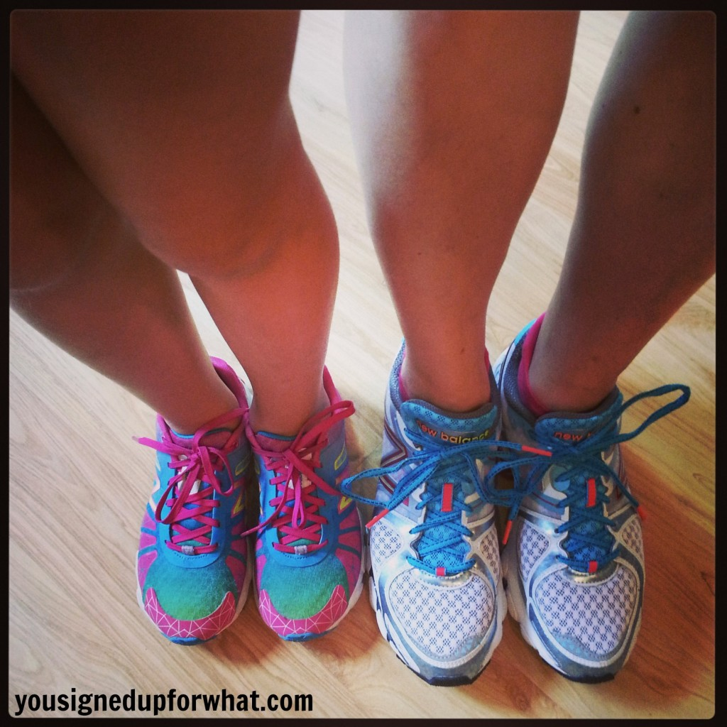 Mommy daughter running shoes