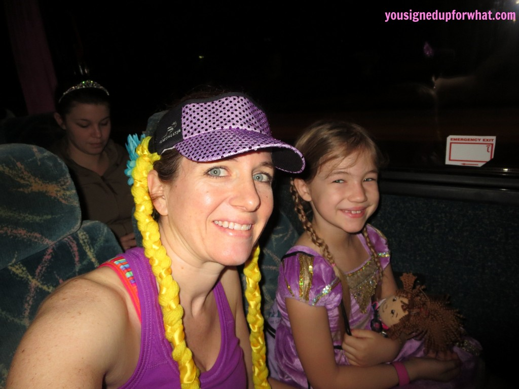 Princess Half Marathon bus