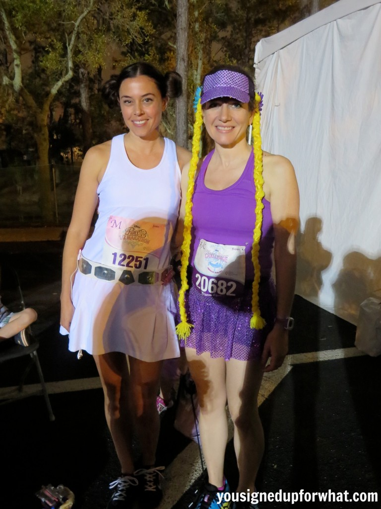 Princess Leia Rapunzel Race costumes