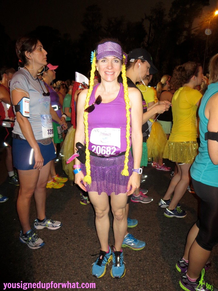 Rapunzel at race start full length