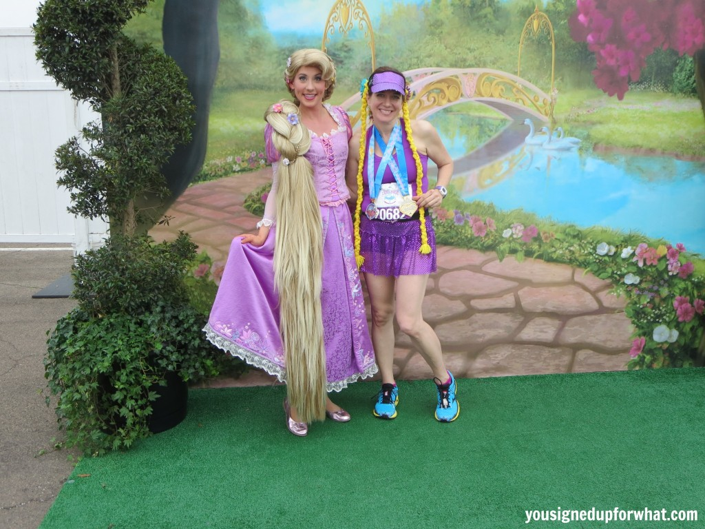 Rapunzel race costume with Rapunzel