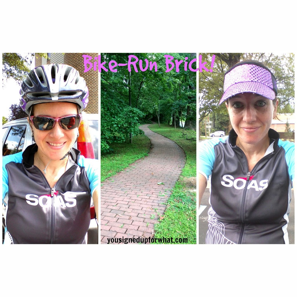 bike run brick with luna chix