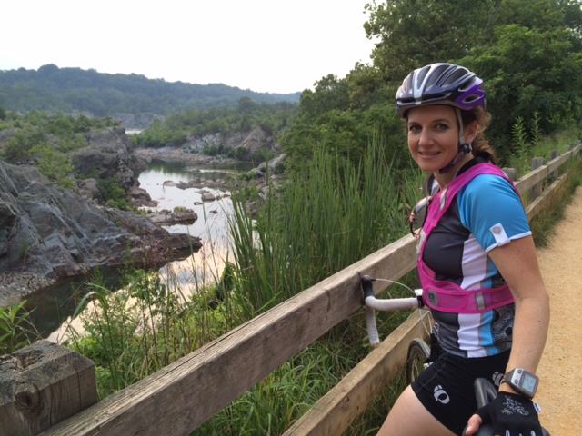 Biking at Great Falls