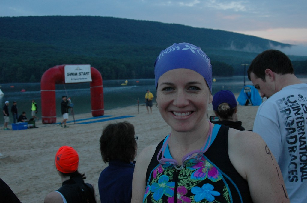 Iron Girl swim start