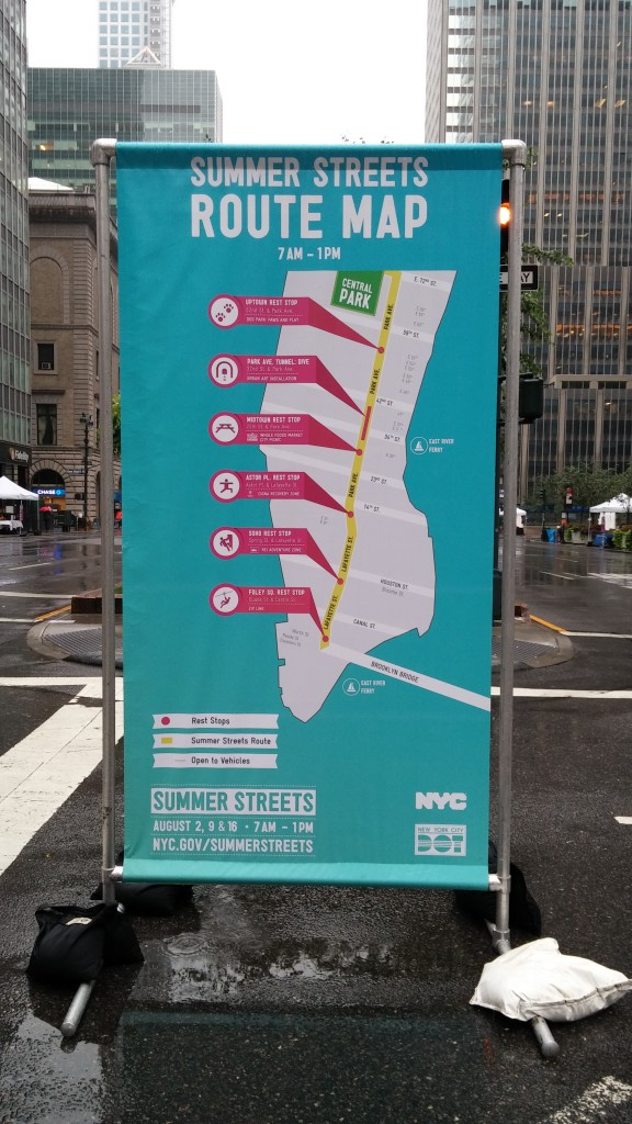 New York City Summer Streets Map