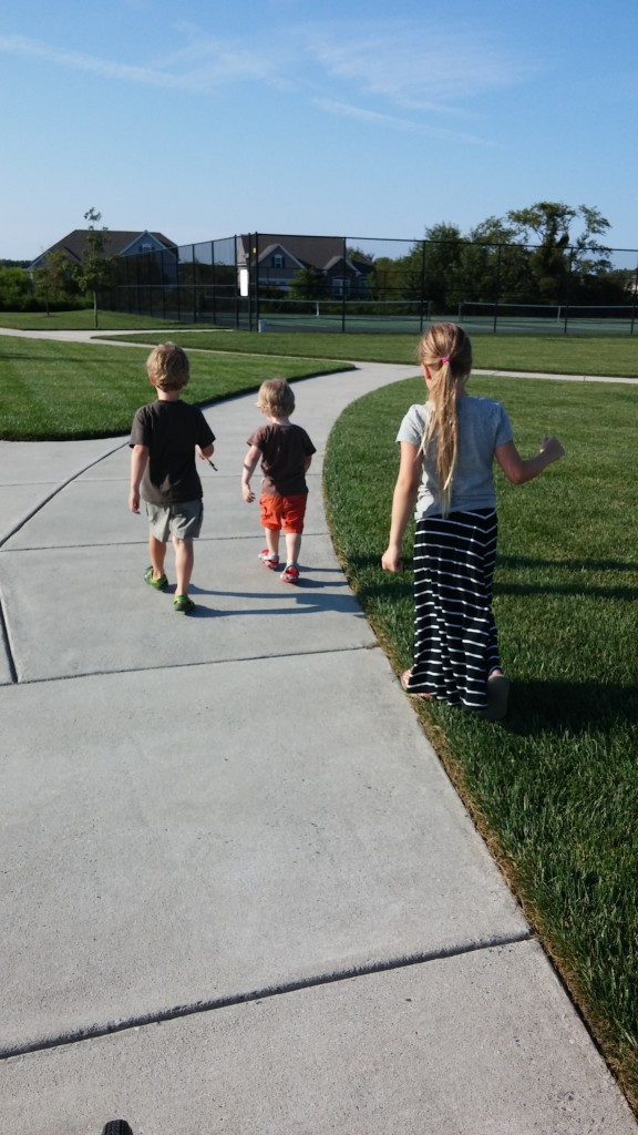 Kids out for a walk