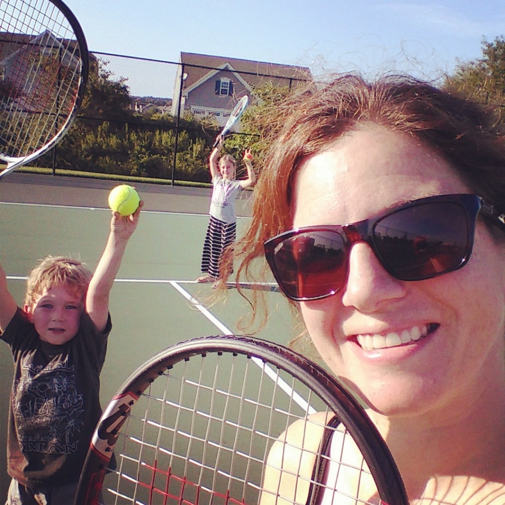 Tennis with kids