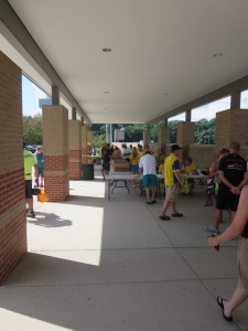 Reston Triathlon packet pickup setup