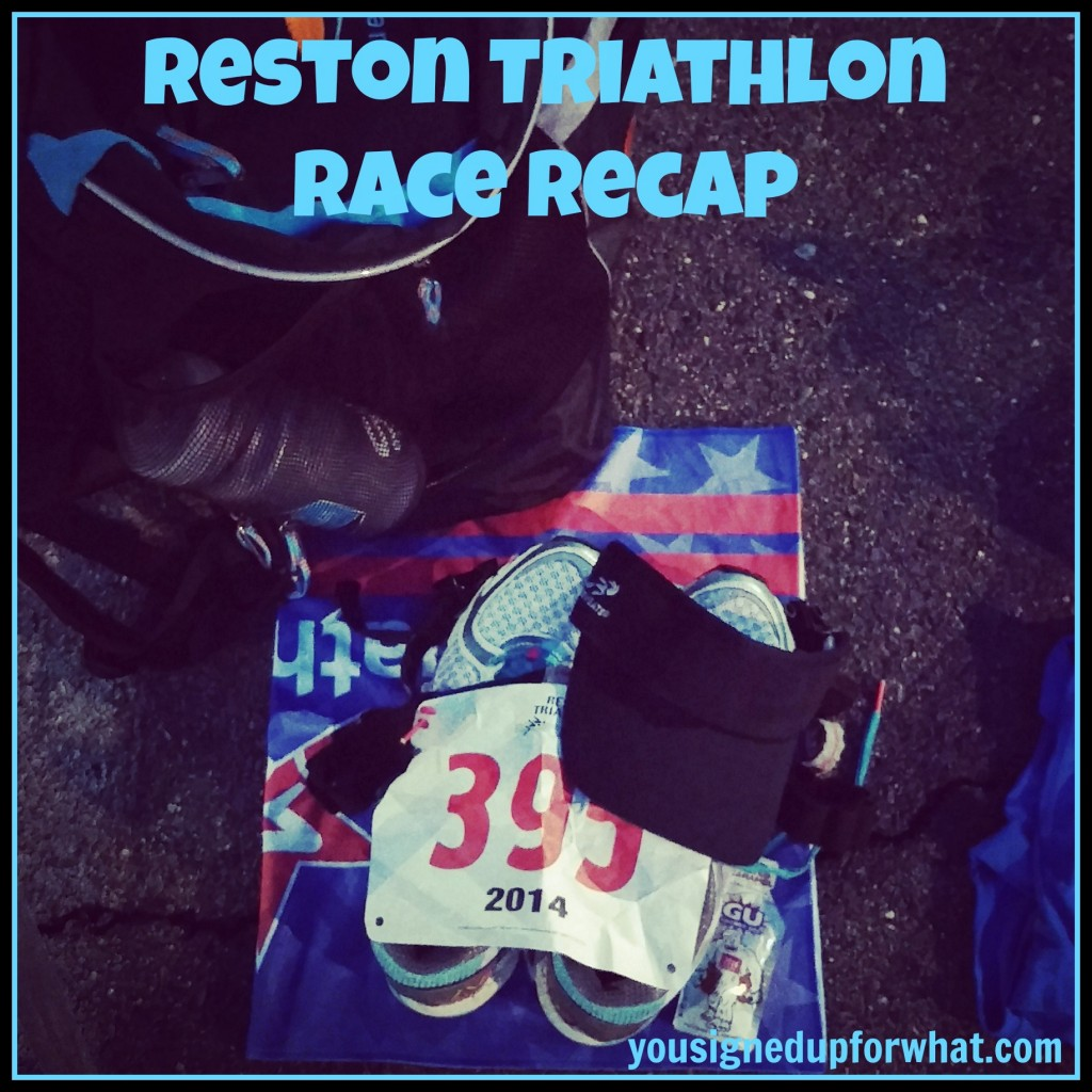 Reston Triathlon Race Recap