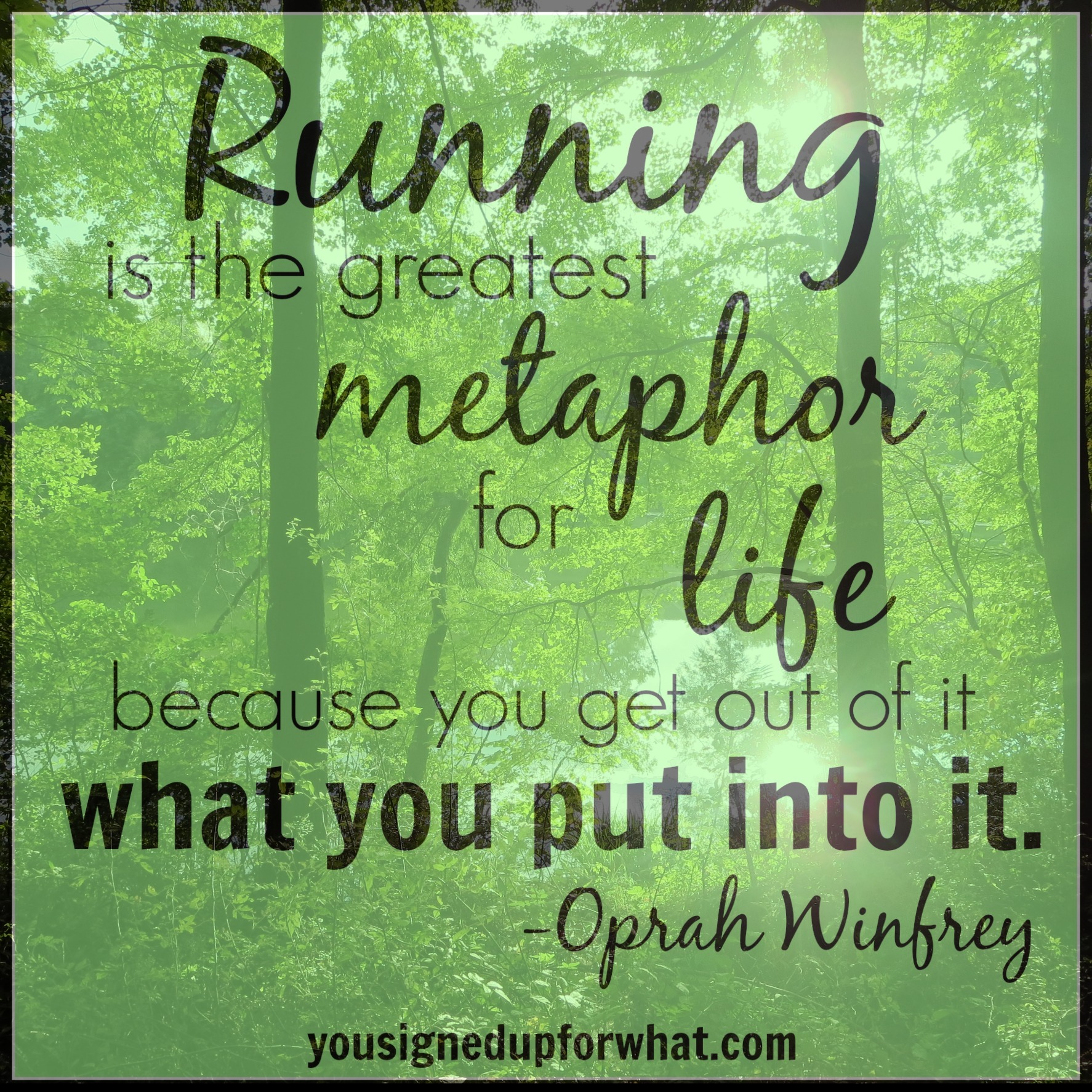 Running inspirational quote