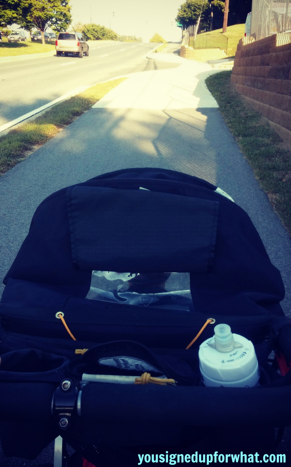 Stroller Run up hill