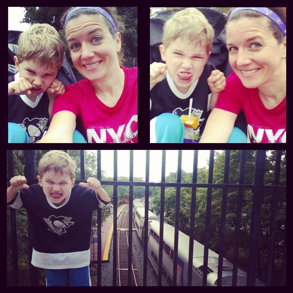 Fourt mile stroller run with funny faces