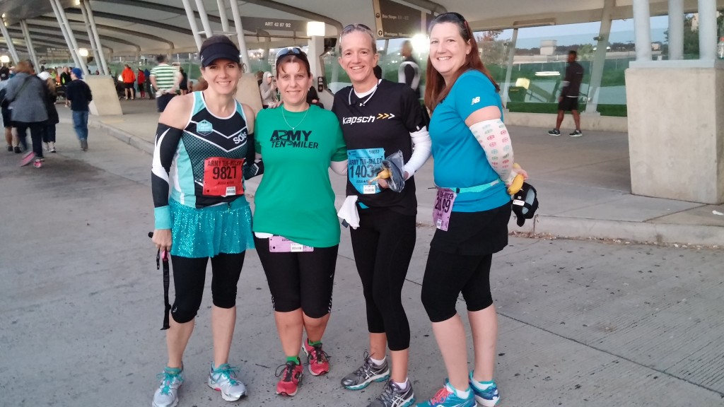 With friends at Army Ten Miler