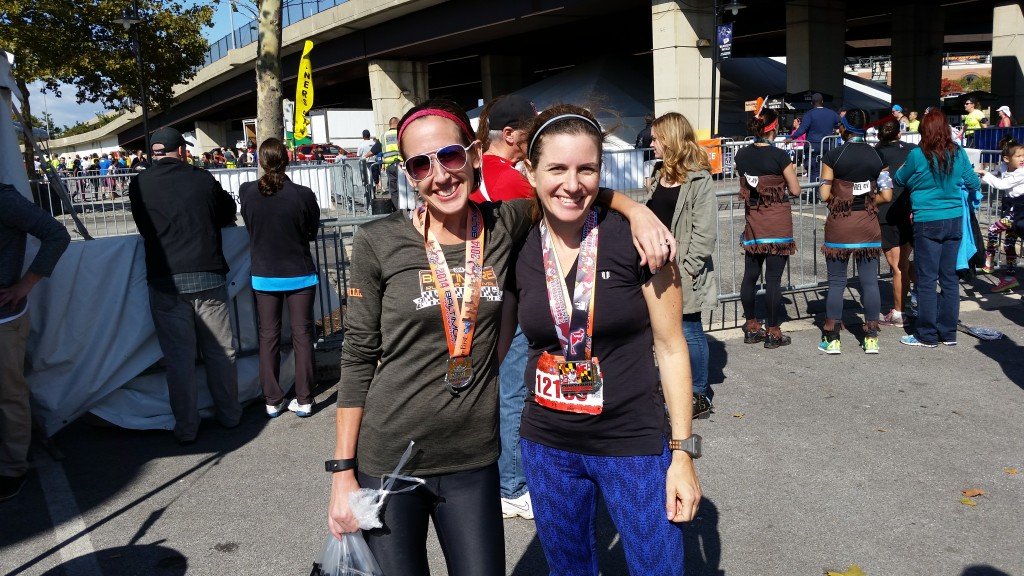 Lauren and Cynthia at finish