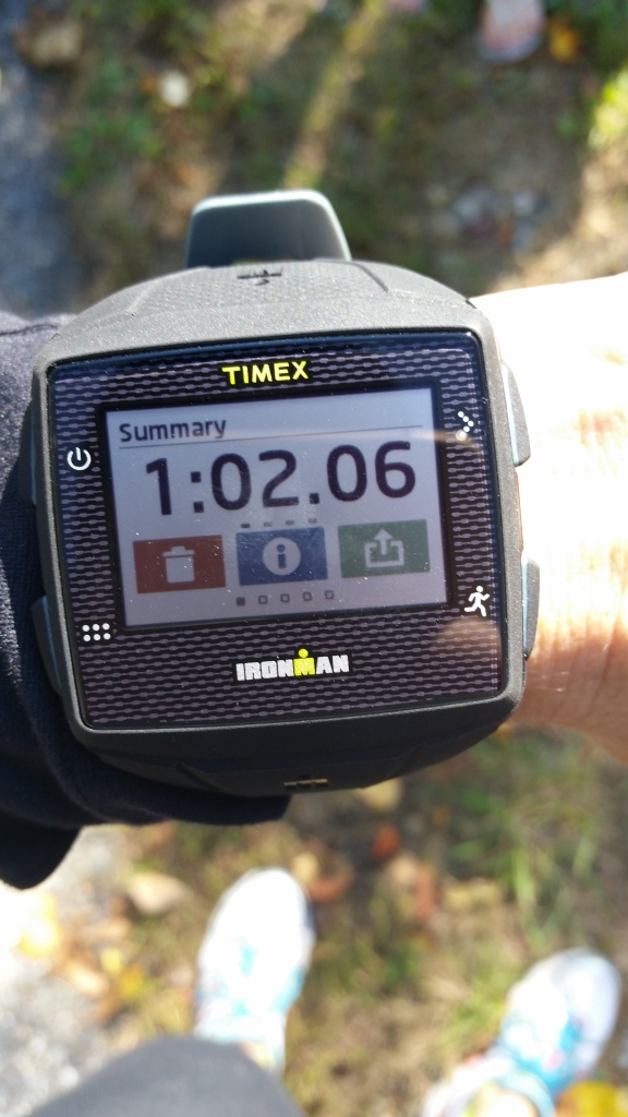 Timex ONE GPS watch finished with run