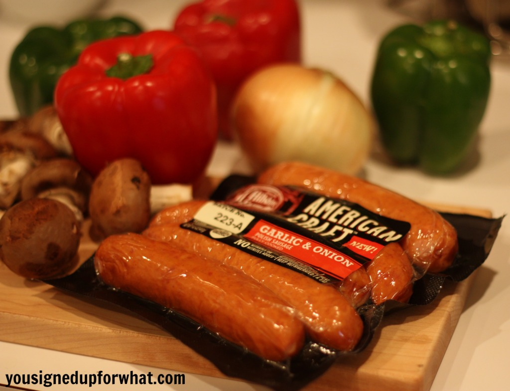 American Craft Sausage with peppers