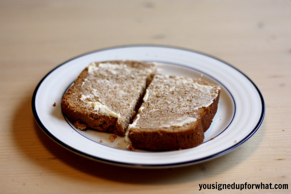 Cinnamon Wheat Bread with butter