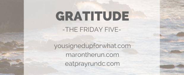 Friday Five Gratitude Thankfulness
