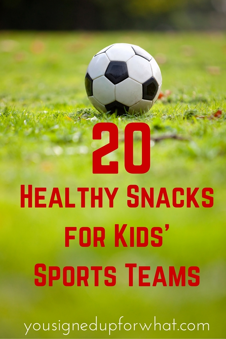 "Your list of bad snack ideas shows up as the first Google result for ""snacks for soccer."" Kind of the opposite of what you're hoping to accomplish here. Kind of ."