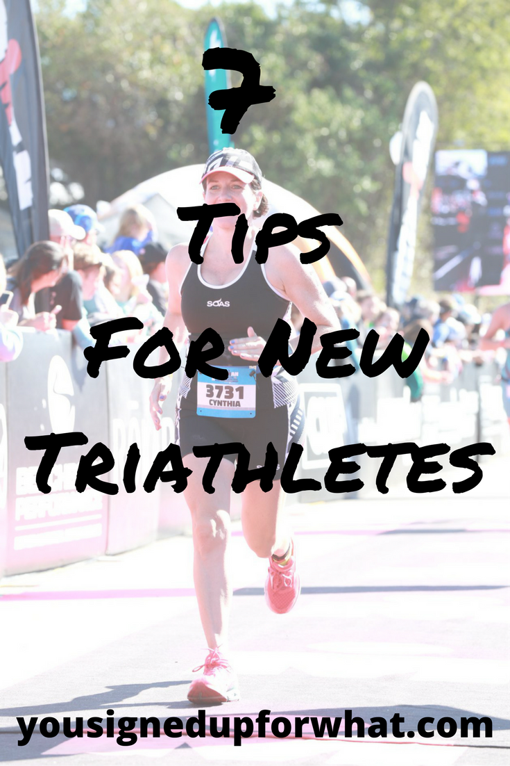 Tips for new triathletes you signed up what